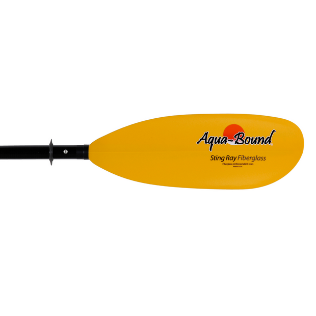 right blade of sting ray fiberglass 4-piece posi-lok kayak paddle