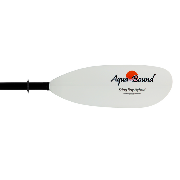 right blade of sting ray hybrid 2-piece posi-lok kayak paddle