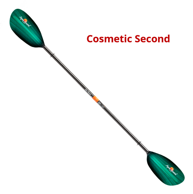Whiskey Fiberglass 4-Piece Straight Shaft Kayak Paddle (Cosmetic Second)