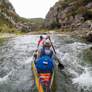 canoeing through rapids with Edge canoe paddle