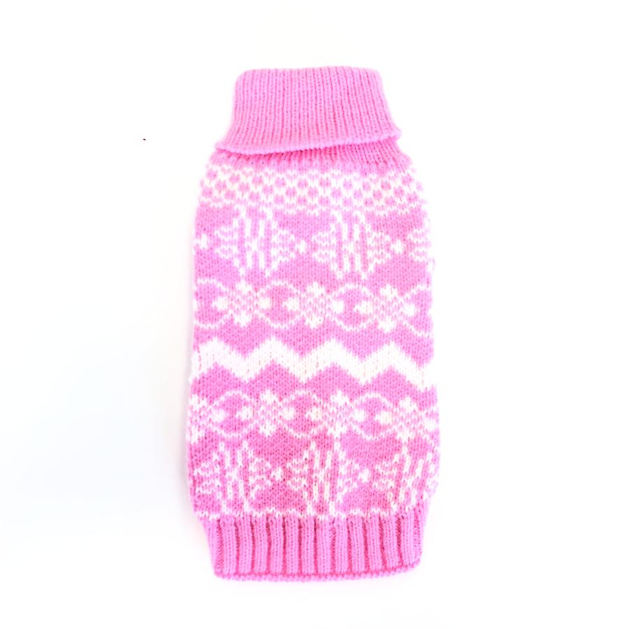 bae35a02feff Hot Pink Snowflake Dog Sweater - Dog Days