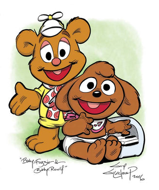 Baby Fozzie and Rowlf