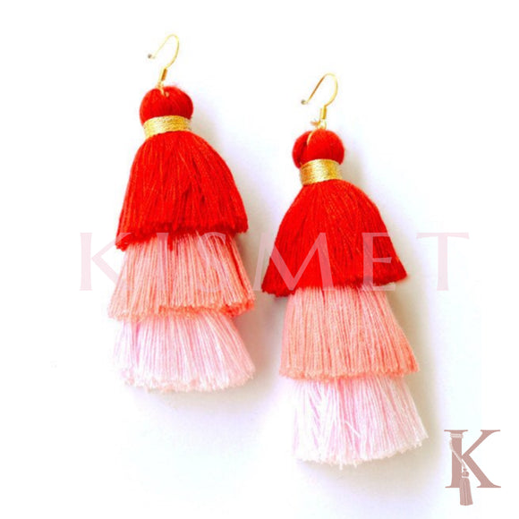 ALLEGRA EARRINGS-SHADES OF PINK