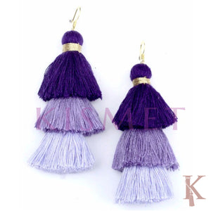 ALLEGRA EARRINGS-SHADES OF PURPLE