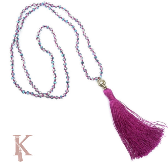 BALI NECKLACE-PURPLE