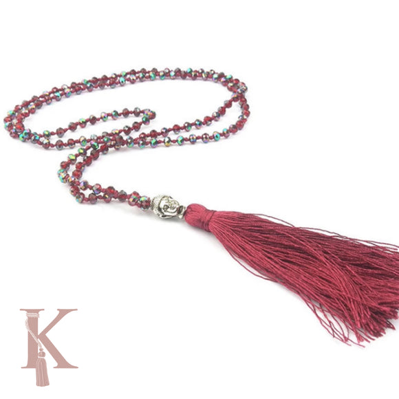 BALI NECKLACE-BURGUNDY