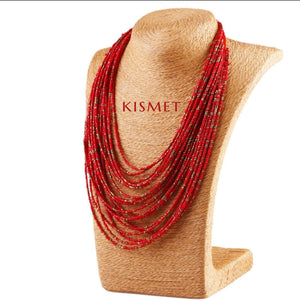 SUMMER NECKLACE-RED