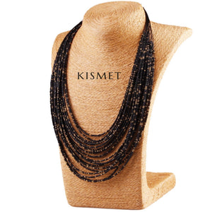 SUMMER NECKLACE-BLACK