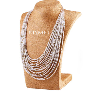 SUMMER NECKLACE-WHITE