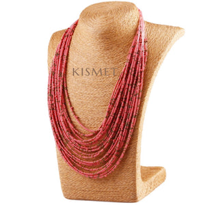 SUMMER NECKLACE-CORAL
