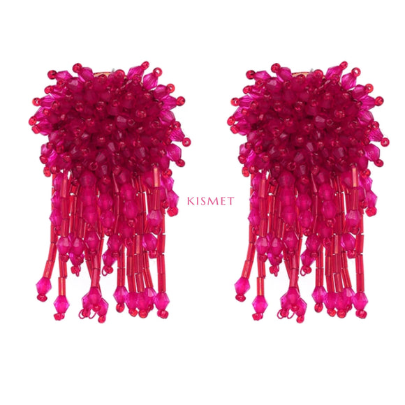 VENUS EARRINGS-HOT PINK