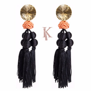 HABANA EARRINGS-BLACK