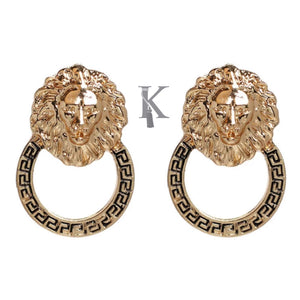 LION ROUND EARRINGS