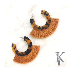 LEOPARD PATTERN HOOP EARRINGS