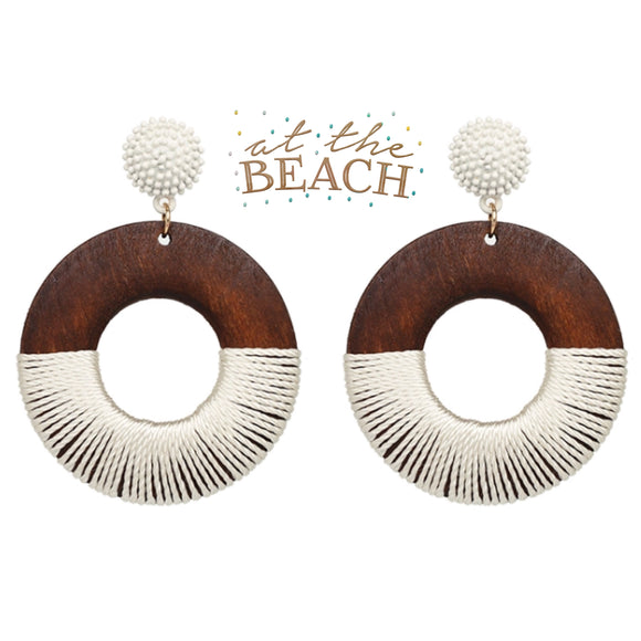 ALOHA EARRINGS-WHITE