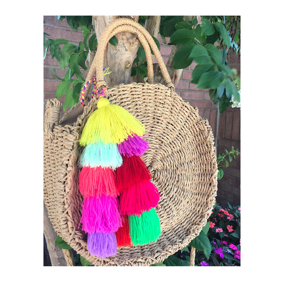 TRIPLE TASSEL CHARM BAG