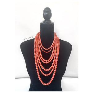 CORAL MULTI LAYER NECKLACE