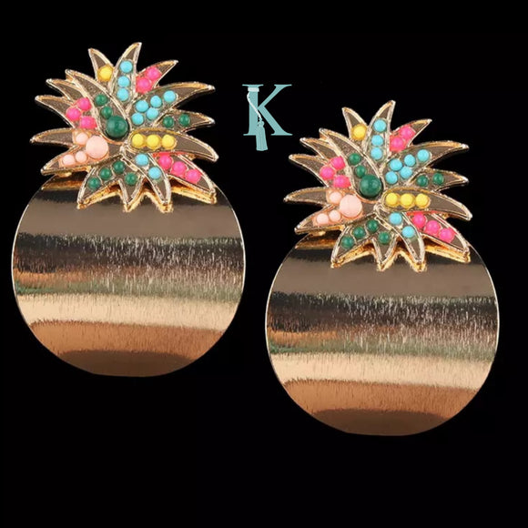 PINEAPPLE EARRINGS (more colors)