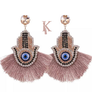 HAMSA STATEMENT EARRINGS (more colors)