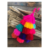 TRIPLE TASSEL CHARM BAG (more colors)