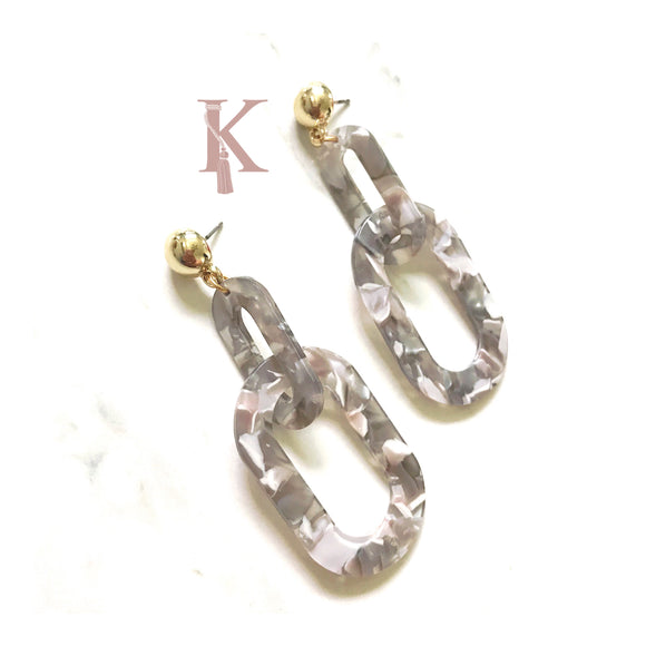 LINKED CHAIN EARRINGS (more colors)