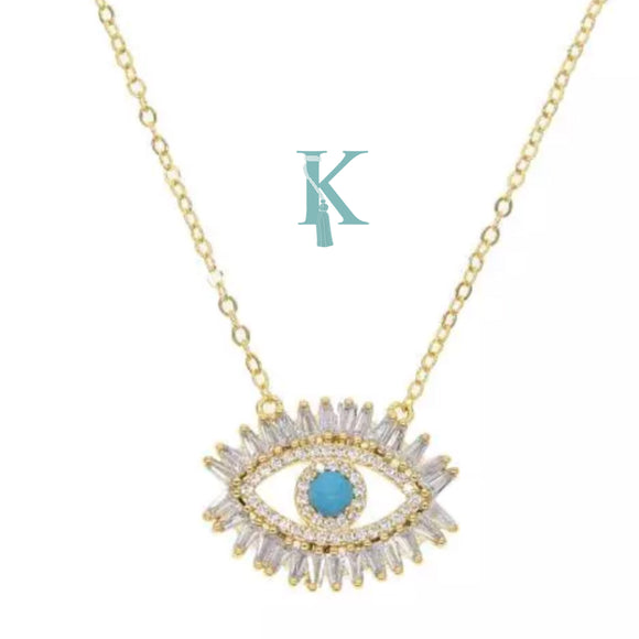 CRYSTAL EYE NECKLACE