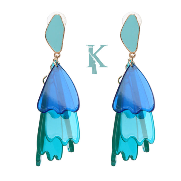 ARIA EARRINGS-SHADES OF BLUE