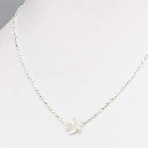 Small airplane necklace
