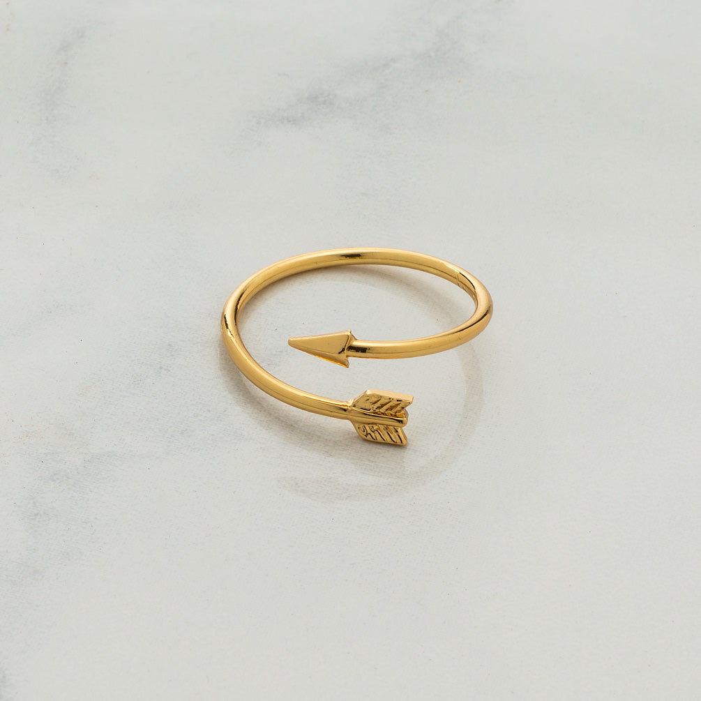 Gold Arrow Ring