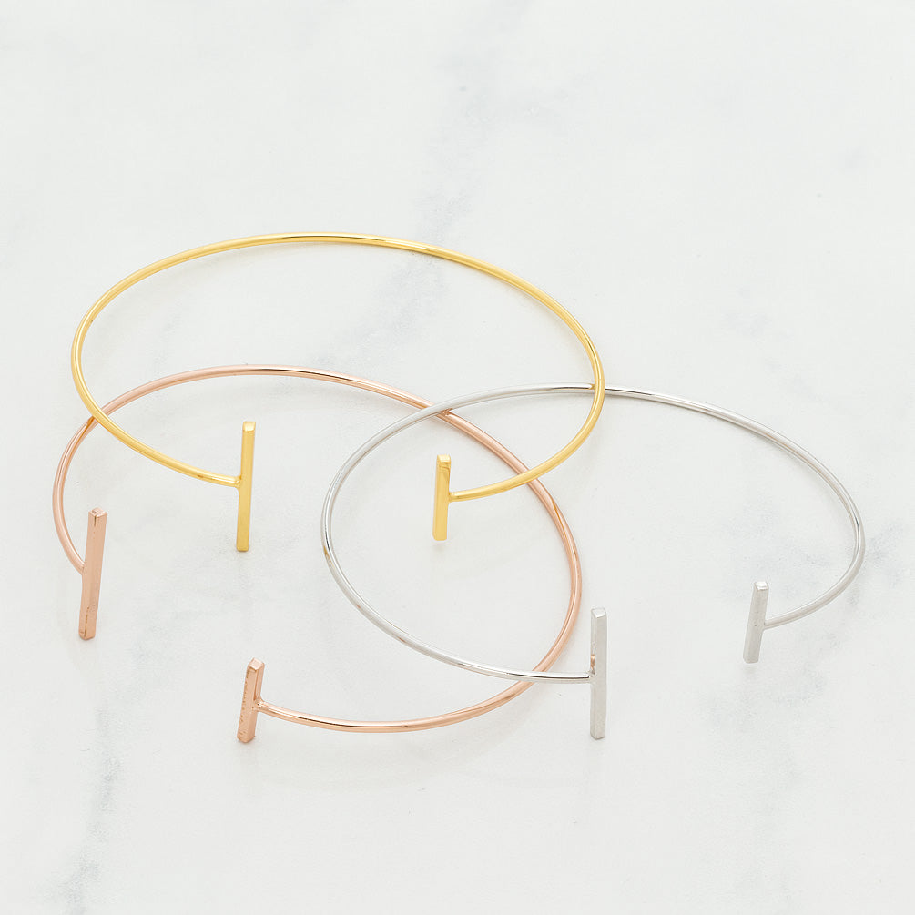 Girl Love Fund Rose Gold Minimalist Bracelet with Bars