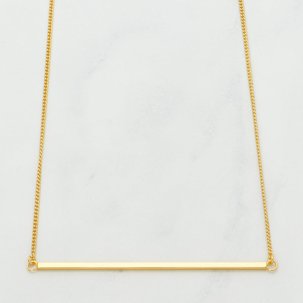 Gold Bar Necklace Gold