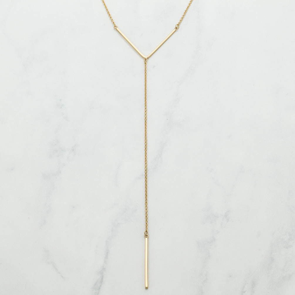 Girl Love Fund Long Drop Necklace