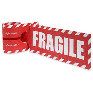 Mighty Tag, Single Sheet, Fragile