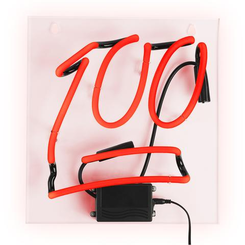 """100"" Emoji Neon Wall Light"