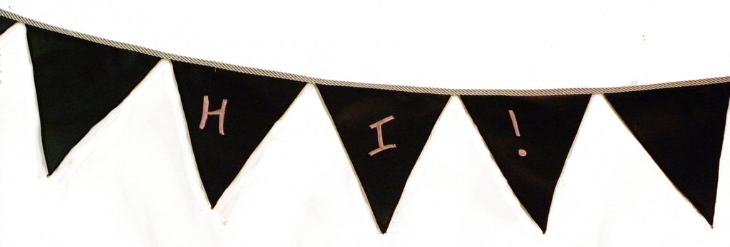 Pennant Banner, Chalkboard, Red & White