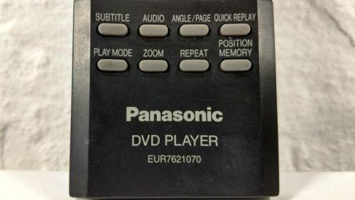 Panasonic EUR7621070 DVD Remote for DVD-S23 DVD-S25 DVD-S25K DVD-S25P