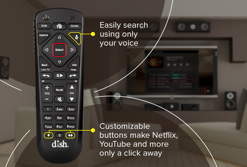 Dish Network 54.0 Hopper Voice Remote Control