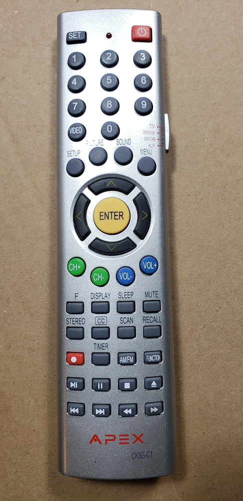 Apex CK5G-C1 TV Remote Control