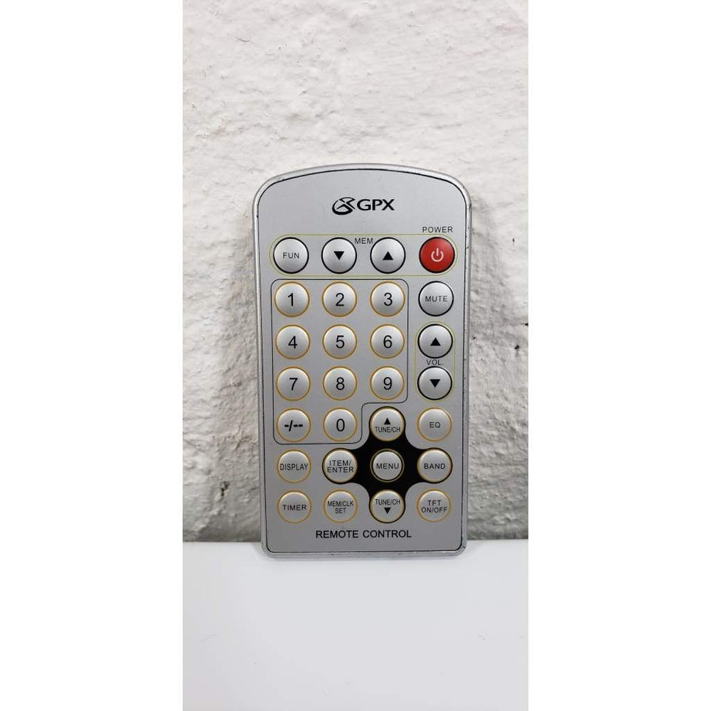 GPX KC8806DT Under Cabinet LCD TV Remote Control - Remote Control