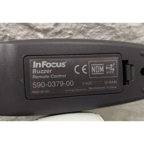 InFocus PA00155001 Projector 590-0379-00 Buzzer Remote for XD10M - Remote Controls
