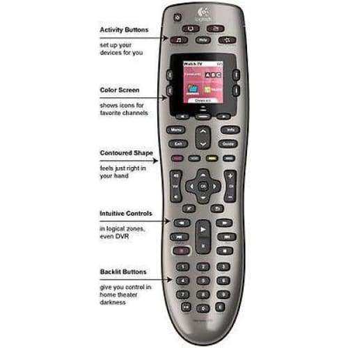 Logitech Harmony 650 8-Device Programmable Universal Remote Control - Remote Control