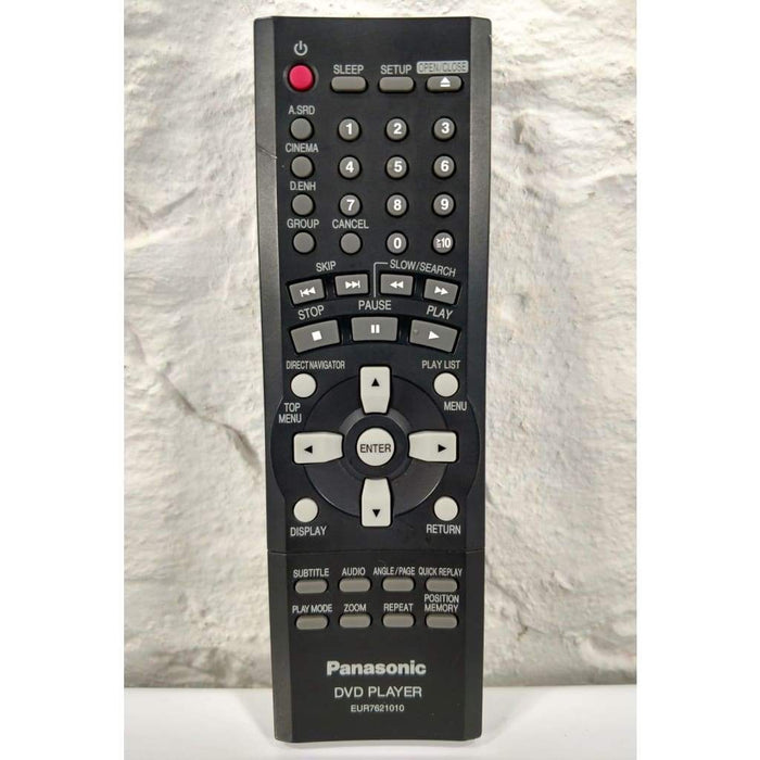 Panasonic EUR7621010 DVD Remote - DVD535S DVDS31 DVDS31A DVDS31S DVDS35A DVDS355S - Remote Controls