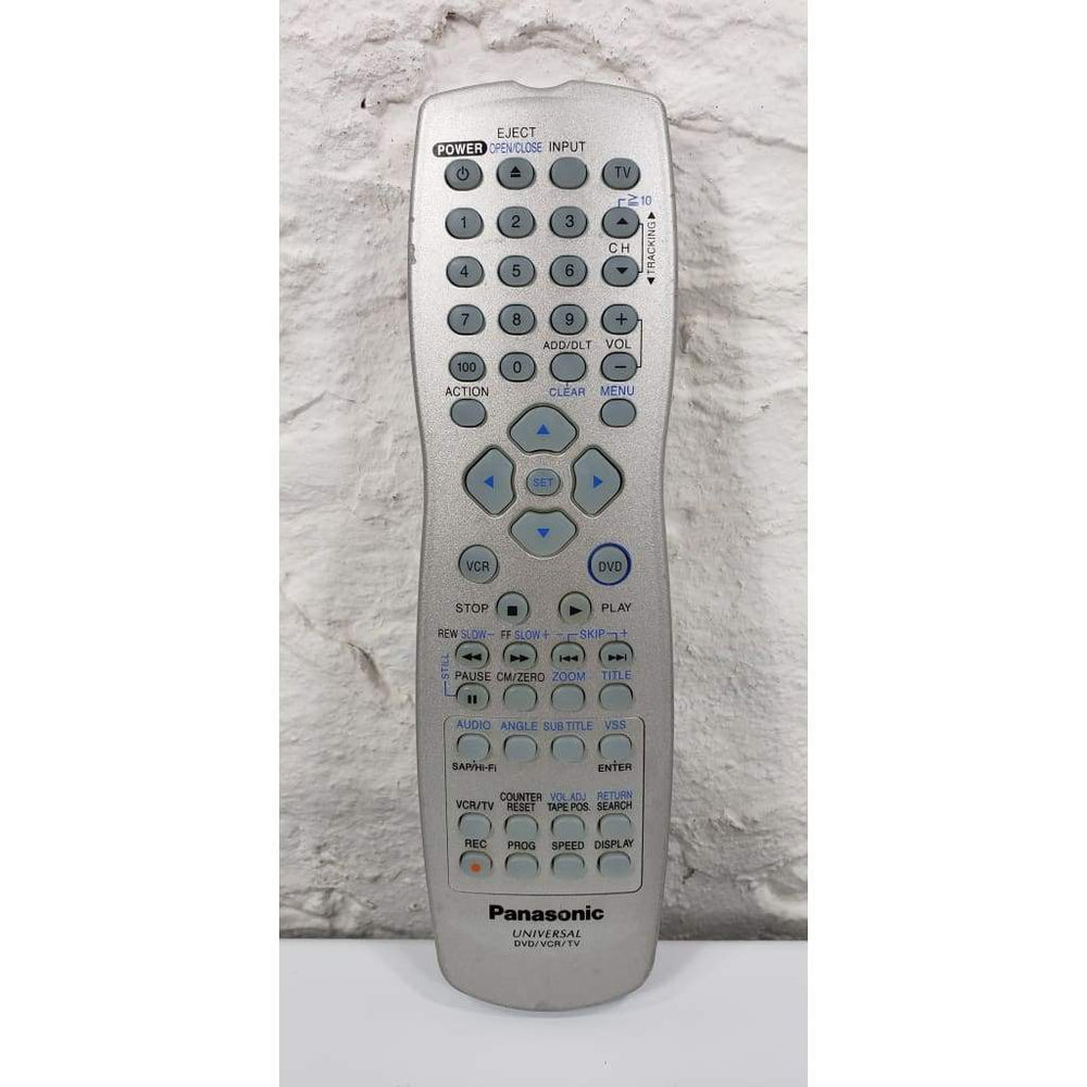 Panasonic LSSQ0375 DVD VCR TV Universal Remote - Remote Controls