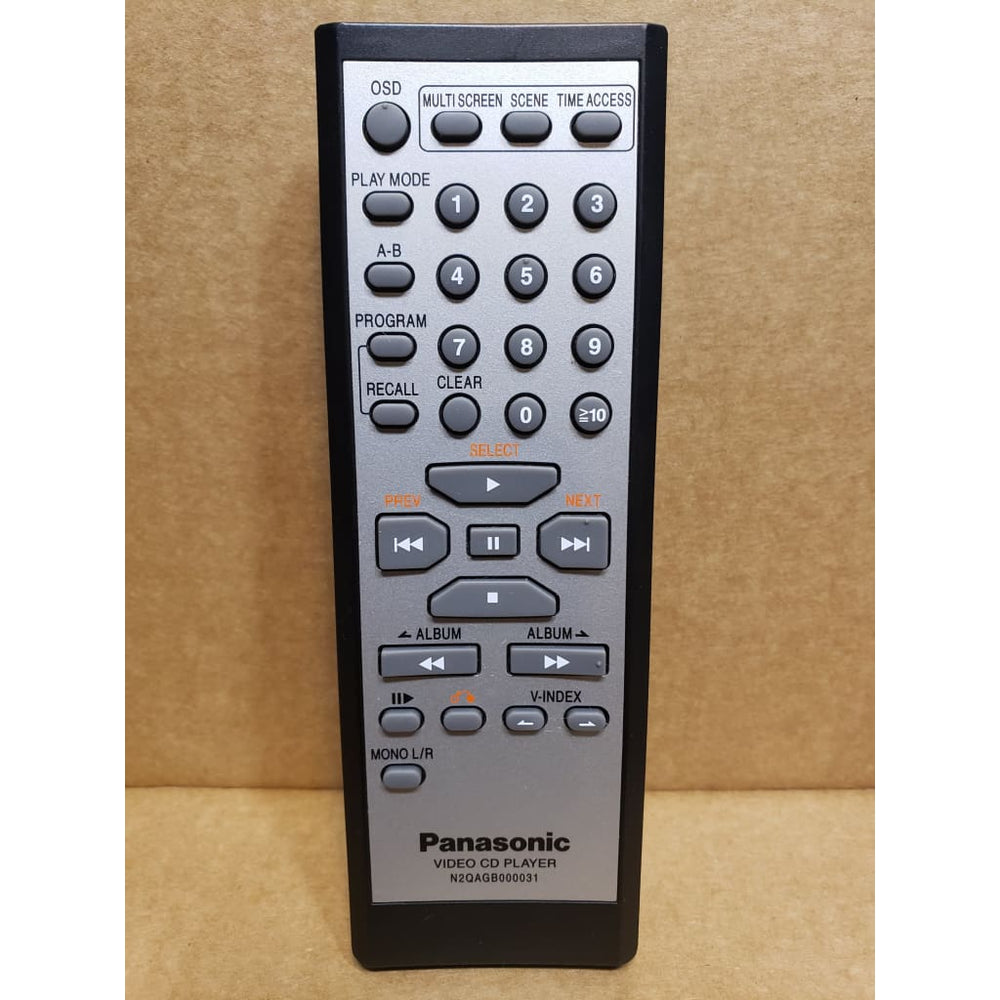Panasonic N2QAGB000031 Video CD VCD Player Remote Control - Remote Control