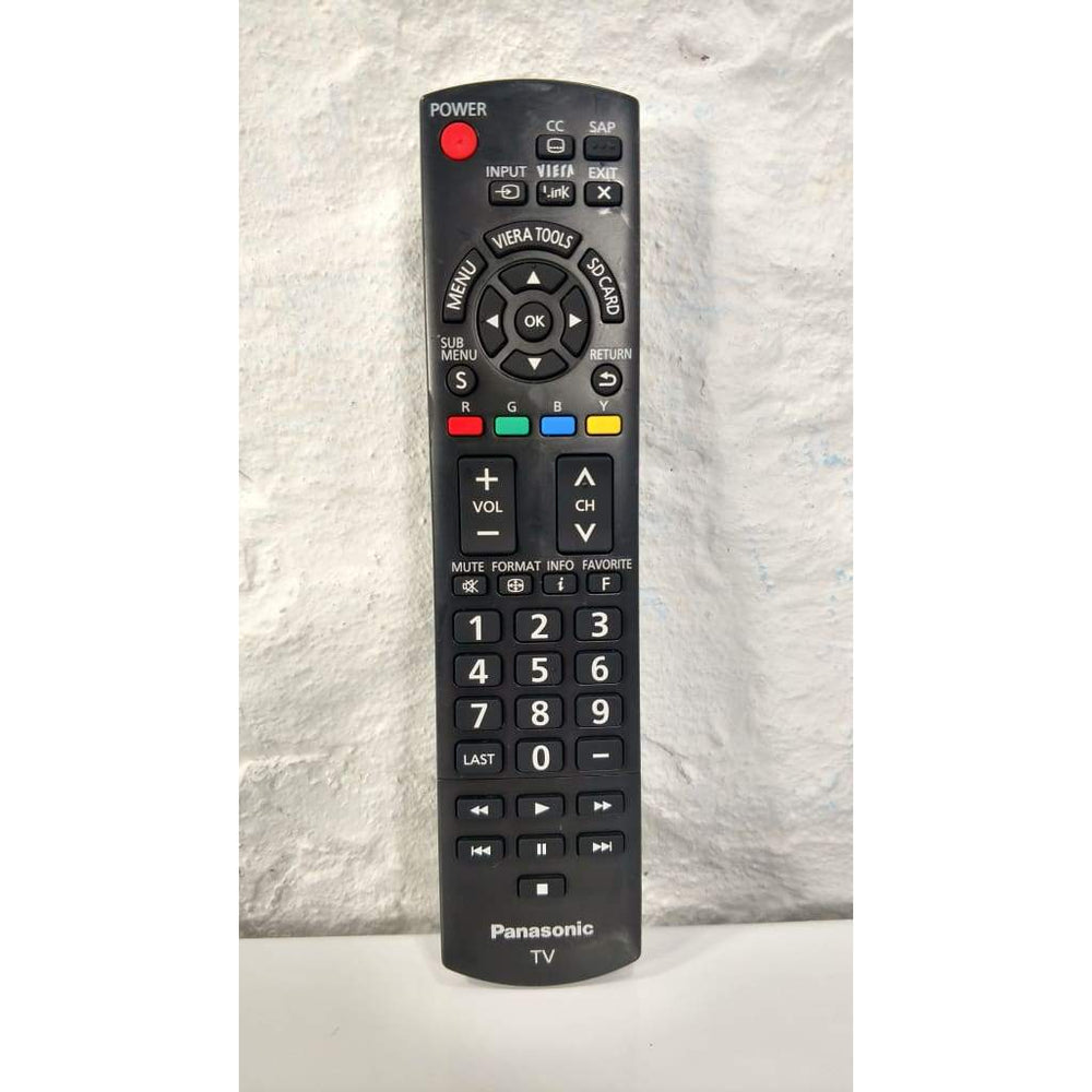 Panasonic N2QAYB000485 TV Remote Control for TC-L42U25 TC-P46S2 TH-32LRH30 - Remote Control