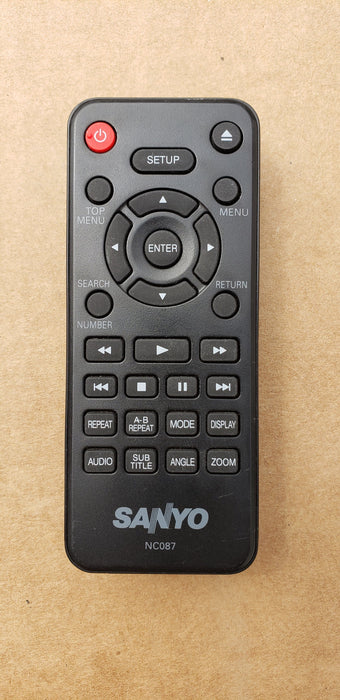 Sanyo NC087 DVD Player Remote Control