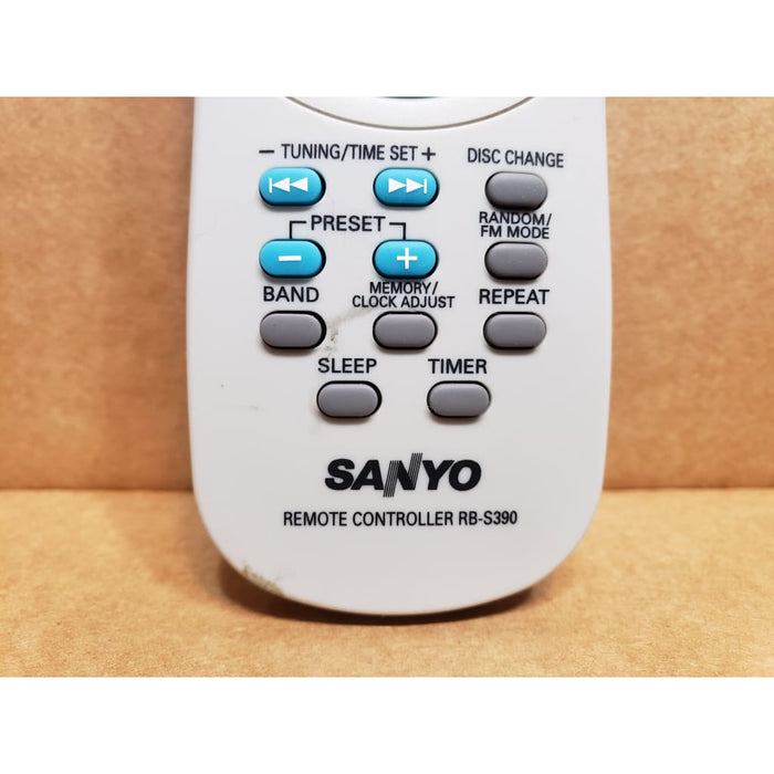 SANYO RB-S390 CD Player Remote Control - Remote Control