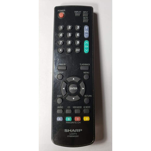 Sharp 076B0MQ051 TV Remote Control - Remote Control