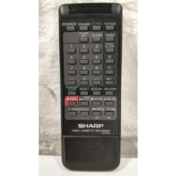 Sharp G0577GE VCR Remote Control for VCA203 VCA205 VCA205U VCA206U - Remote Controls