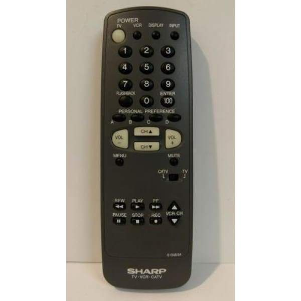 Sharp G1395SA TV Remote for 27K-S180 25K-M180 25MR15J 25N-M180 27N-S50 - Remote Controls